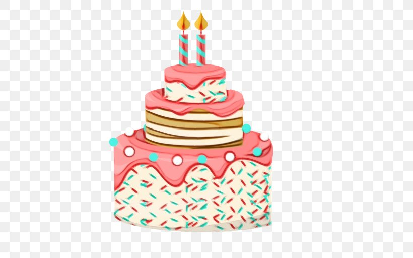 Birthday Cake, PNG, 512x512px, Watercolor, Baked Goods ...