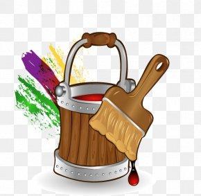 Paint Bucket - Paint Bucket Cartoon Brush PNG