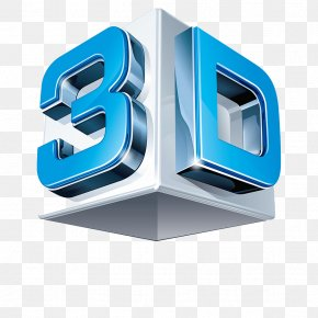 3d Film Logo - 3D Computer Graphics 3D Film Three-dimensional Space 3D Modeling Logo PNG