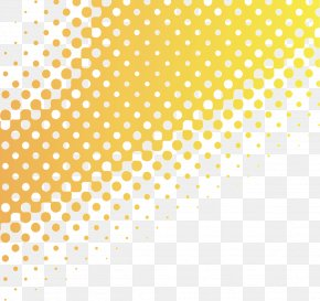 Yellow Gradient Background Dot Size - Textile Printing Halftone PNG