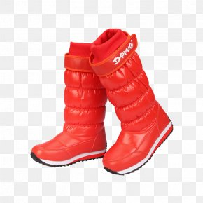 Red Snow Boots - Shoe Snow Boot Winter PNG