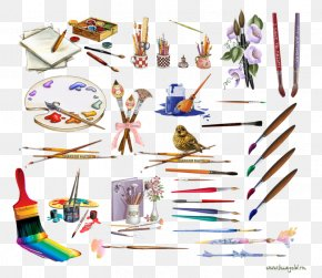 Painting Tools - Watercolor Painting Drawing Tool Clip Art PNG