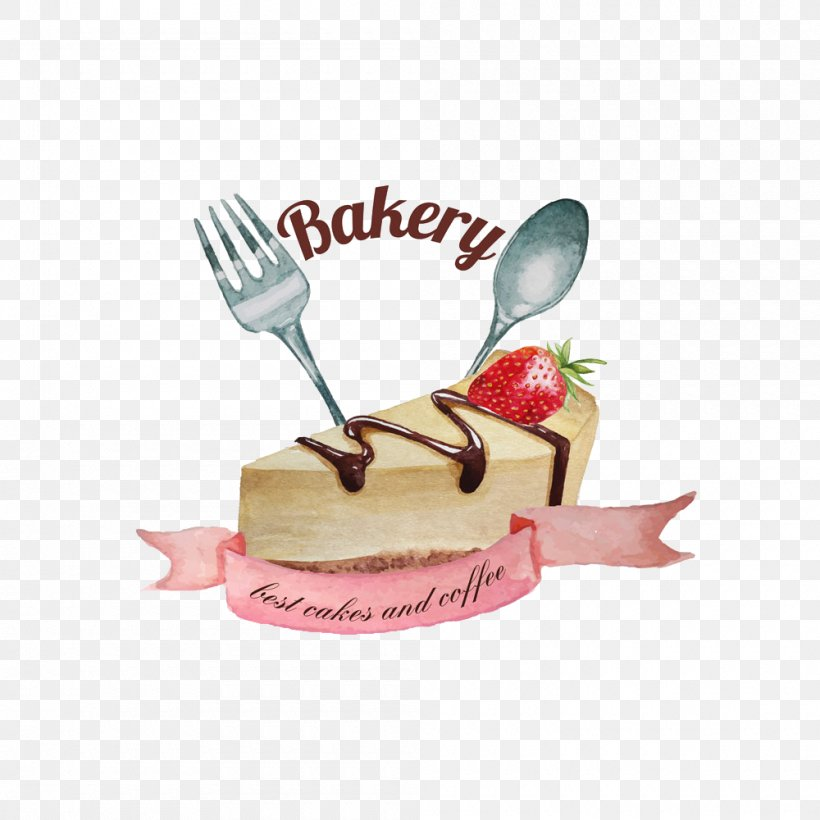 Watercolor Painting Drawing Spoon Illustration, PNG, 1000x1000px, Watercolor Painting, Art, Cake, Cutlery, Dessert Download Free
