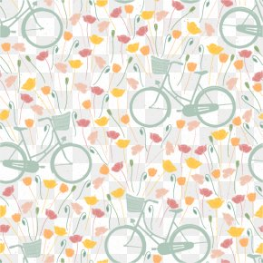 Vector Bike - Bicycle IPhone 5 Pattern PNG