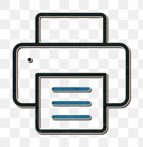Rectangle Printer Icon - Technology Icon Business SEO Icon Print Icon PNG