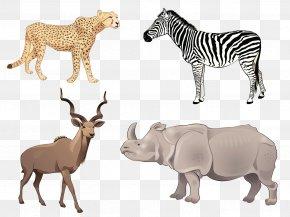 African Grassland Animals - Africa Antelope Euclidean Vector Illustration PNG