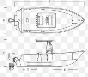 Boat - Technical Drawing Boat Line Art Cartoon PNG