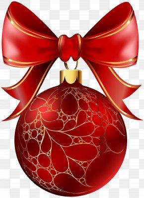 Christmas Ball Red Transparent Image - Christmas Day Christmas Ornament Christmas Decoration Clip Art PNG