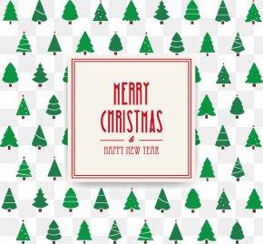 Christmas Tree Background - Christmas Tree Christmas Card Can Stock Photo PNG