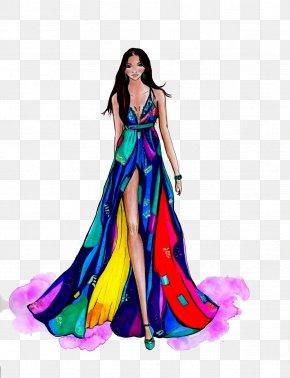 Fashion Model Transparent - Fashion Illustration Model Fashion Design PNG