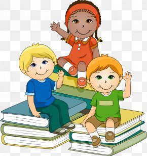 Children Reading Books Images - School Child Clip Art PNG
