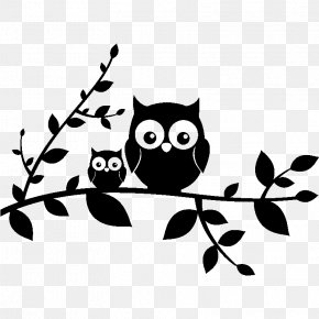 Owl - Owl Wall Decal Sticker Polyvinyl Chloride PNG