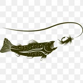 Fishing Illustration - Fishing Rod Fish Hook Illustration PNG