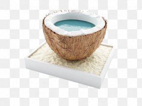 Coconut On The Booth - Juice Cocktail Coconut Water Stock Illustration PNG