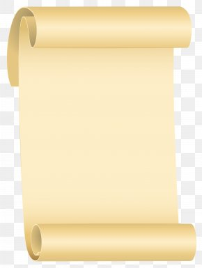Scroll Clipart Image - Kraft Paper Scroll PNG