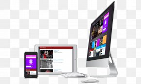 Newspaper Template - Responsive Web Design Computer Monitors Template Joomla PNG