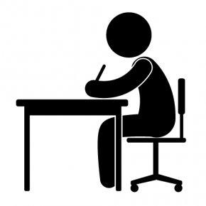 Desk Silhouette Cliparts - Clip Art PNG