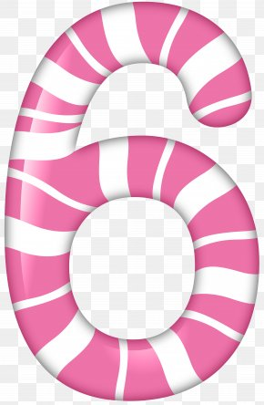 Number Six Candy Style Clip Art Image - Number Six Number Four Clip Art PNG