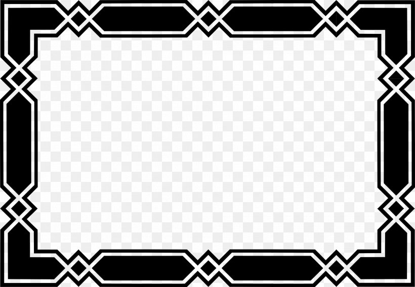 Black And White Clip Art, PNG, 1969x1364px, Picture Frames, Area, Black, Black And White, Board Game Download Free