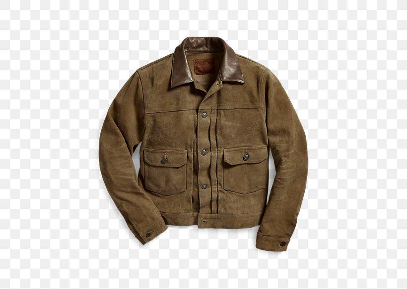 Leather Jacket Ralph Lauren Corporation Denim Suede, PNG, 470x581px, Jacket, Beige, Clothing, Coat, Denim Download Free