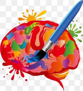 Vector Drawing Creative Brain - Brain Creativity Clip Art PNG