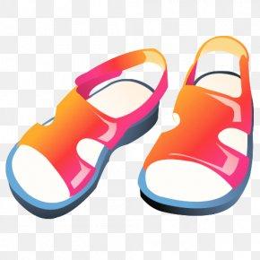 Cartoon Sandals - Slipper Sandal Flip-flops Clip Art PNG