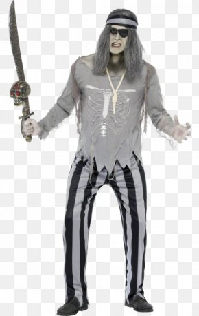 Ghost Costume - The Ghost Pirates Halloween Costume Disguise Halloween Costume PNG