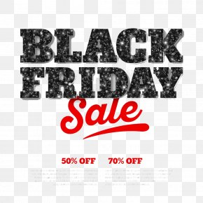 Black Friday Poster HD Buckle Material - Black Friday Font PNG