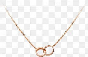 Gold Chain - Cartier Earring Love Bracelet Necklace Jewellery PNG