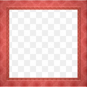 Red Border Frame Pic - Square Chessboard Area Picture Frame Pattern PNG