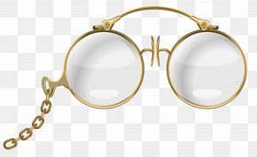 Glasses - Glasses Earring Pearl Necklace PNG