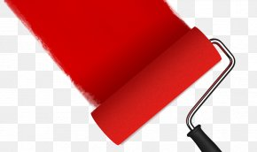 Red Paint - Paint Rollers Cabinet Painting House Painter And Decorator PNG