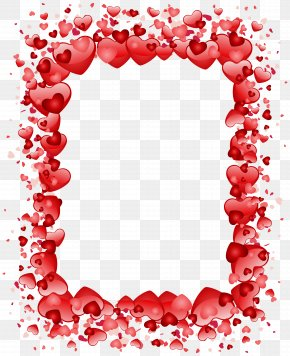 Valentine's Day Hearts Border Transparent PNG Clip Art Image - Valentine's Day Heart Clip Art PNG