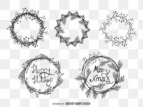 Christmas Wreath Vector Material - Christmas Wreath Drawing Illustration PNG