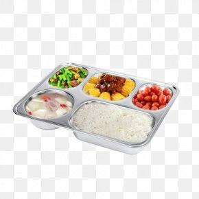 Stainless Steel Food Plate - Fast Food Tray Meal Stainless Steel PNG