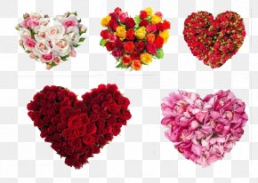 Heart-shaped Bouquet - Flower Heart PNG