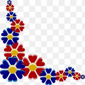 Flower Border Line Design - Flower Clip Art PNG