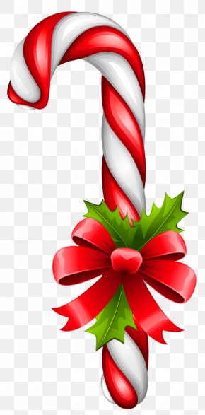 Lollipop - Candy Cane Lollipop Christmas Clip Art PNG