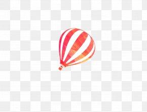 Red Stripes Hot Air Balloon - Watercolor Painting Hot Air Balloon PNG
