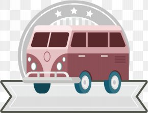 Vector Pink Bus Label - Bus Euclidean Vector Clip Art PNG