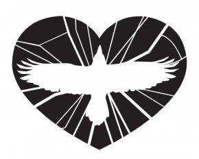 Simple Heart Outline - Common Raven Heart Clip Art PNG