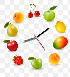 Fruit Clock Design - Juice Nutrition Facts Label Fruit PNG