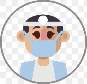 Doctor Wearing A Mask - Mask Clip Art PNG