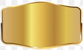 Gold Label Clipart Picture - Rectangle Product Yellow PNG