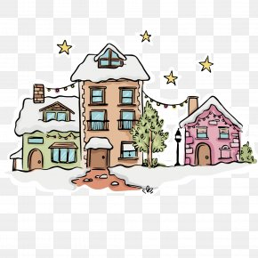 Snow Village - Christmas Village Euclidean Vector Snow PNG
