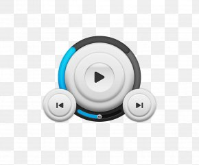 Simple Playback Icon Design Material - Light Blue Icon Design Icon PNG