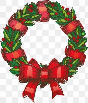 Wreath - Christmas Decoration Wreath Clip Art PNG