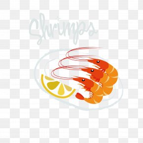 Orange Shrimp - Seafood Octopus Shrimp Crab PNG