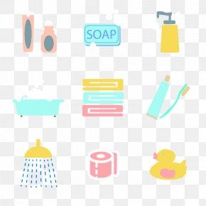 Vector Bath Elements - Personal Care Clip Art PNG