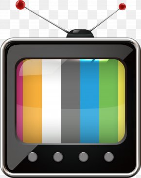 Vector Black And White TV Antenna - Television Clip Art PNG